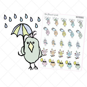 weatherbies featherbies weather planner stickers - The Planner's World