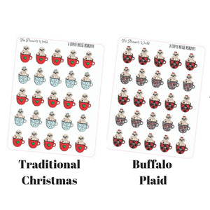 A Cup of Moxie Holiday sloth sticker - The Planner's World