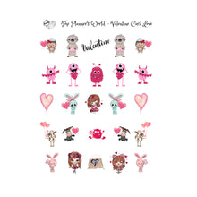 Valentines Cutie Balloon Stickers - The Planner's World