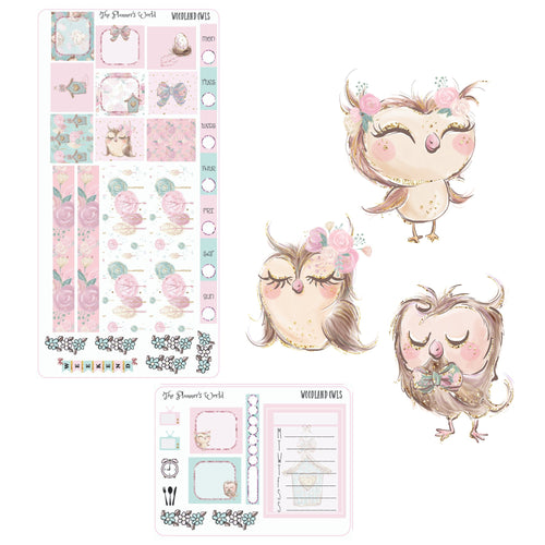 Woodland Owls Hobonichi Weeks Planner Sticker Kit - The Planner's World