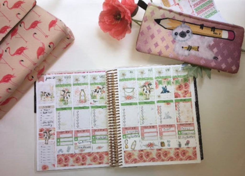 Daisy Moo Cow - Weekly Vertical Sticker Kit - The Planner's World