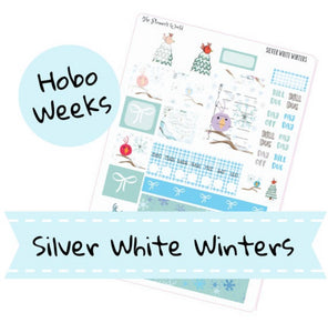 Hobonichi Weeks weekly kit / Silver White Winters Sticker kit - The Planner's World