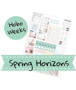 Spring Horizons Hobonichi Weekly Planner Sticker Kit - Hobonichi Sticker kit - The Planner's World