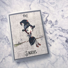 Large Sticker Album - halloween sticker album - witch - The Planner's World