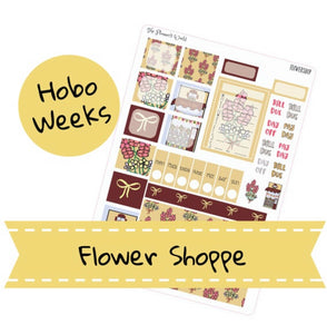 Flower Shop Hobonichi Weekly Planner Sticker Kit - The Planner's World