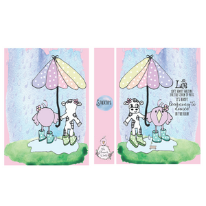 Large Sticker Album - Life is about learning to dance in the rain
