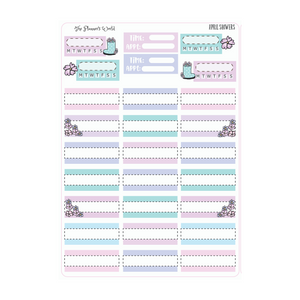 April Showers Weekly Vertical Planner Stickers