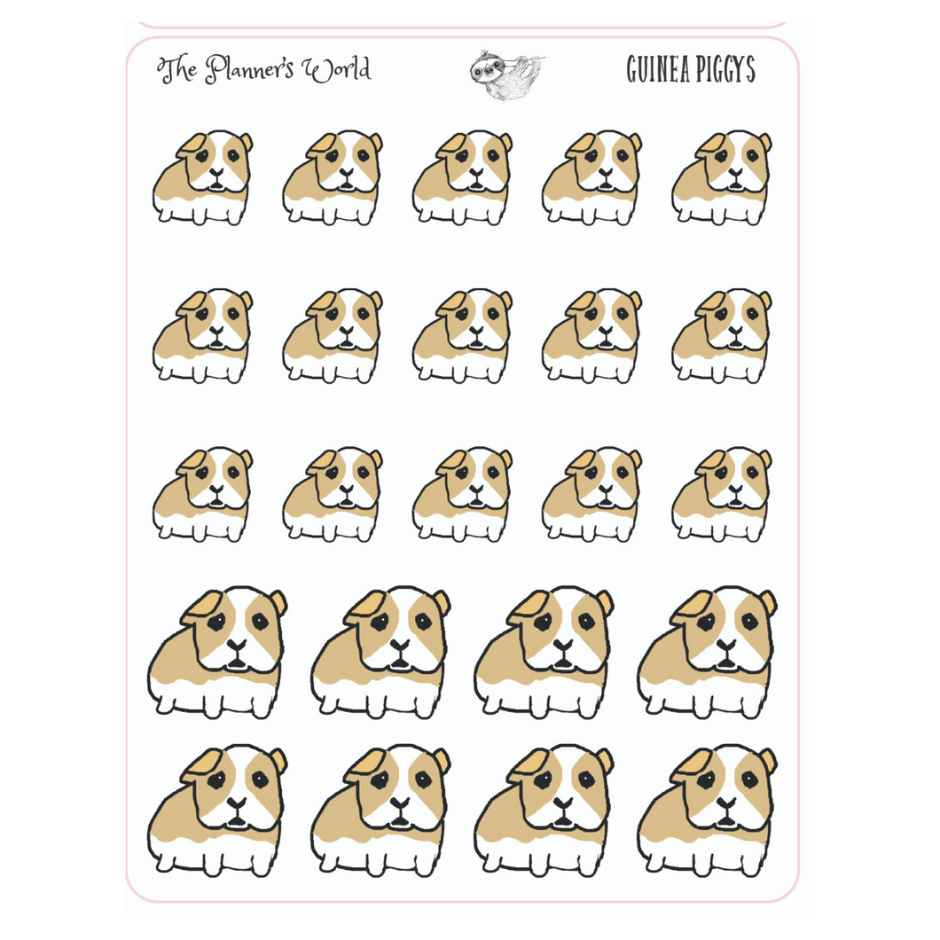 Guinea Pig planner stickers - pet Stickers