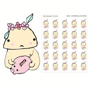 Sprig Spends all the Money Planner stickers