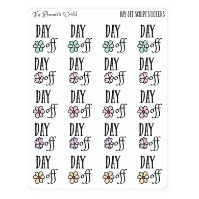 Floral Day off Planner stickers