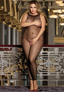 Plus Size Seductive Fishnet Bodystocking