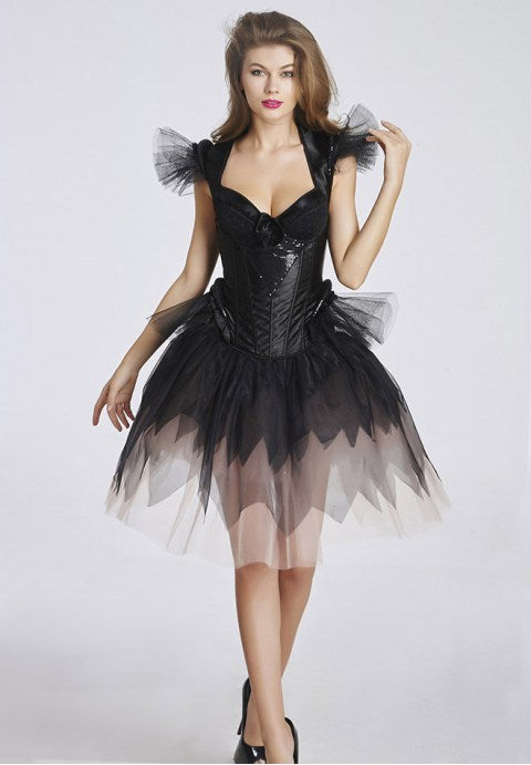 Black Corset Dancing Party Skirts