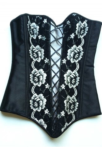 Sweetheart Floral Embroidery Overbust Corset