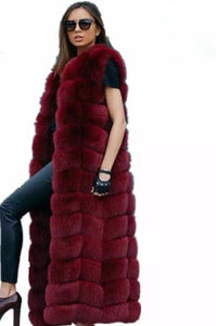 Luxury Faux Fox Fur Vest