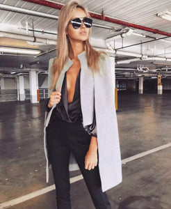 Casual Open Front Blazer