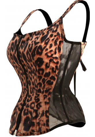 Burlesque Sexy Tights Leopard Animal Print Corset