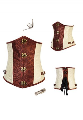 Brown Noble Steampunk Costume Underbust Corsets