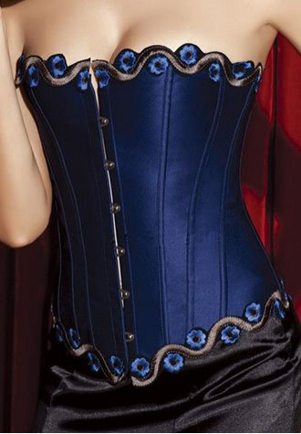 Beautiful Embroidered Floral Edge Corset