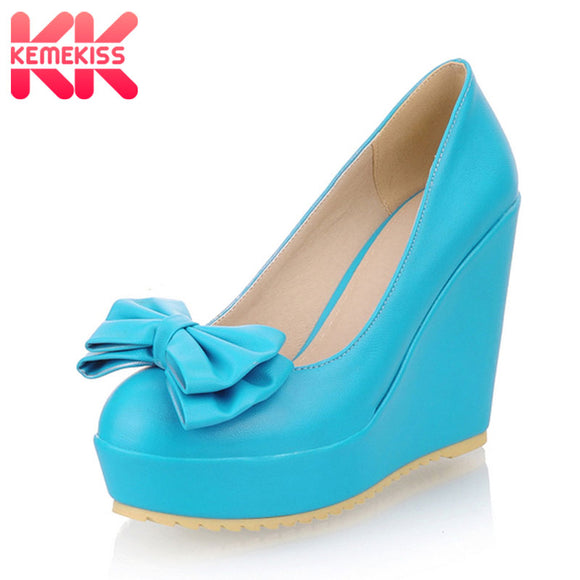 KemeKiss free shipping NEW high heel wedge shoes platform fashion women dress sexy pumps heels P11160 hot sale EUR size 31-43