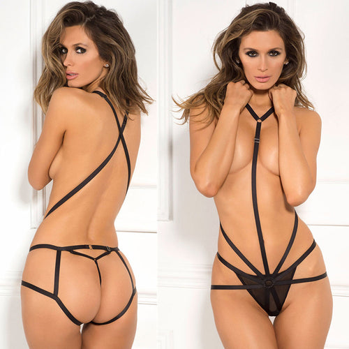 Tied Strap Temptation Hollow Perspective Exposed Sexy Lingerie