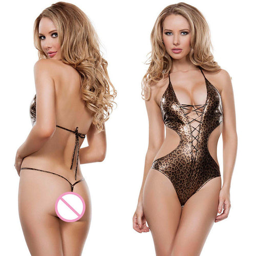 Women's Sexy Backless One-Piece Lingerie Underwear Sleepwear