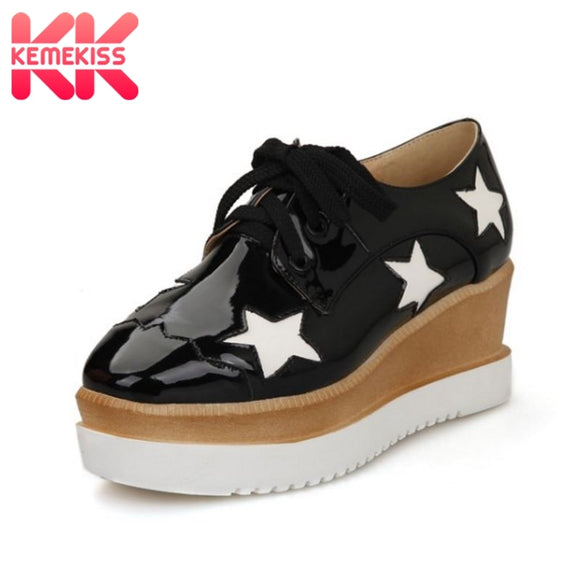 KemeKiss size 34-43 sexy women high wedges shoes mixed color cross strap pumps trifle party club vintage shoes women footwears