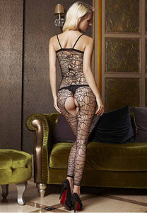 Black Cobweb Style Body Stockings