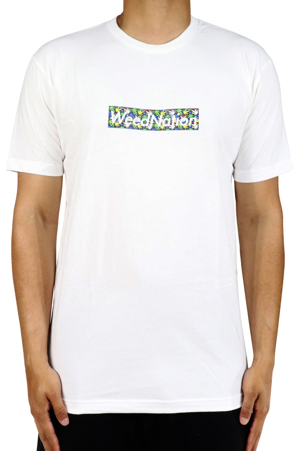 WHITE WEED SHIRT LOGO ( WEED NATION IMPRINT)