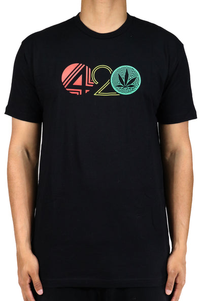 WEED NATION 420 SHORT SLEEVE BLACK T-Shirt