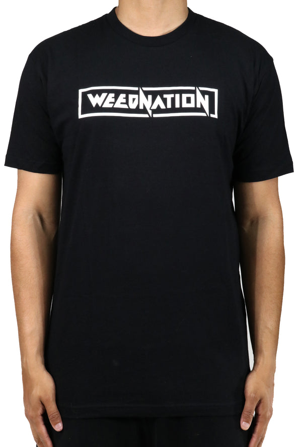 BLACK WEED NATION SHORT SLEEVE T-SHIRT