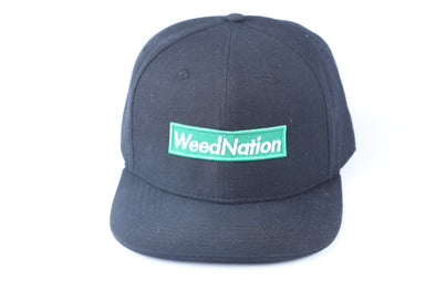 BOX LOGO WEED NATION BLACK SNAP BACK HAT