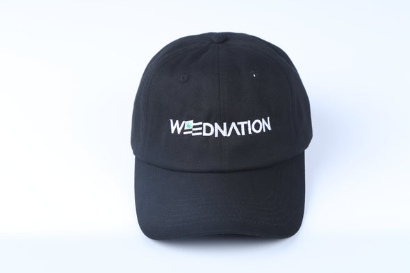 WEED NATION LOGO BLACK DAD HAT