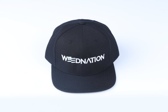 WEED NATION LOGO BLACK SNAP BACK HAT