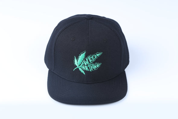 WEED BLACK SNAP BACK HAT