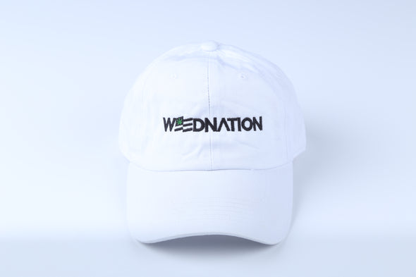 WEED NATION LOGO WHITE DAD HAT