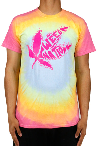 PINK WEED NATION TIE-DIE T-SHIRT