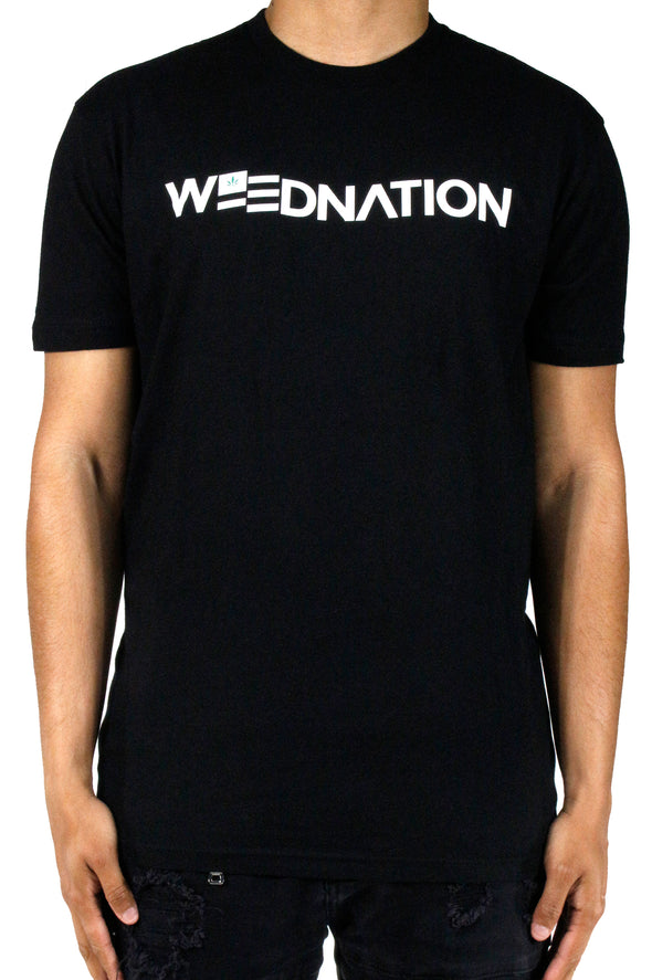 CLASSIC WEED NATION BLACK T-SHIRT