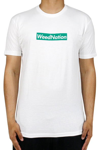 SUPREME LOGO WEED NATION BLACK T-SHIRT