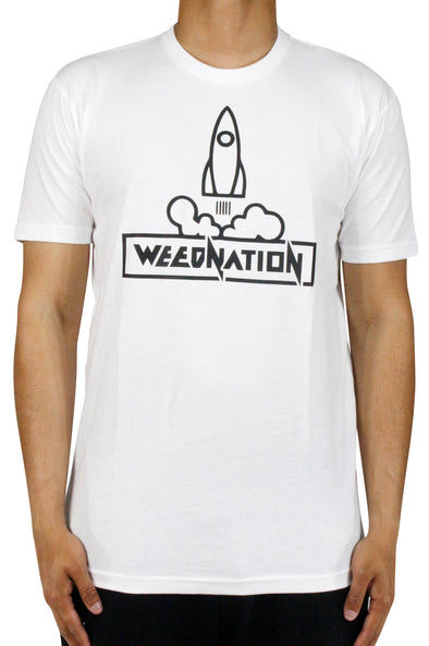 ROCKET WEED NATION WHITE T-SHIRT