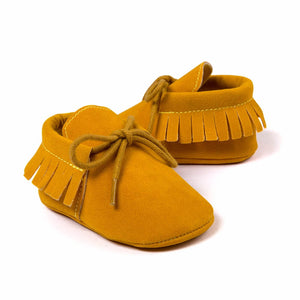 Genuine Suede Leather Baby Moccasins