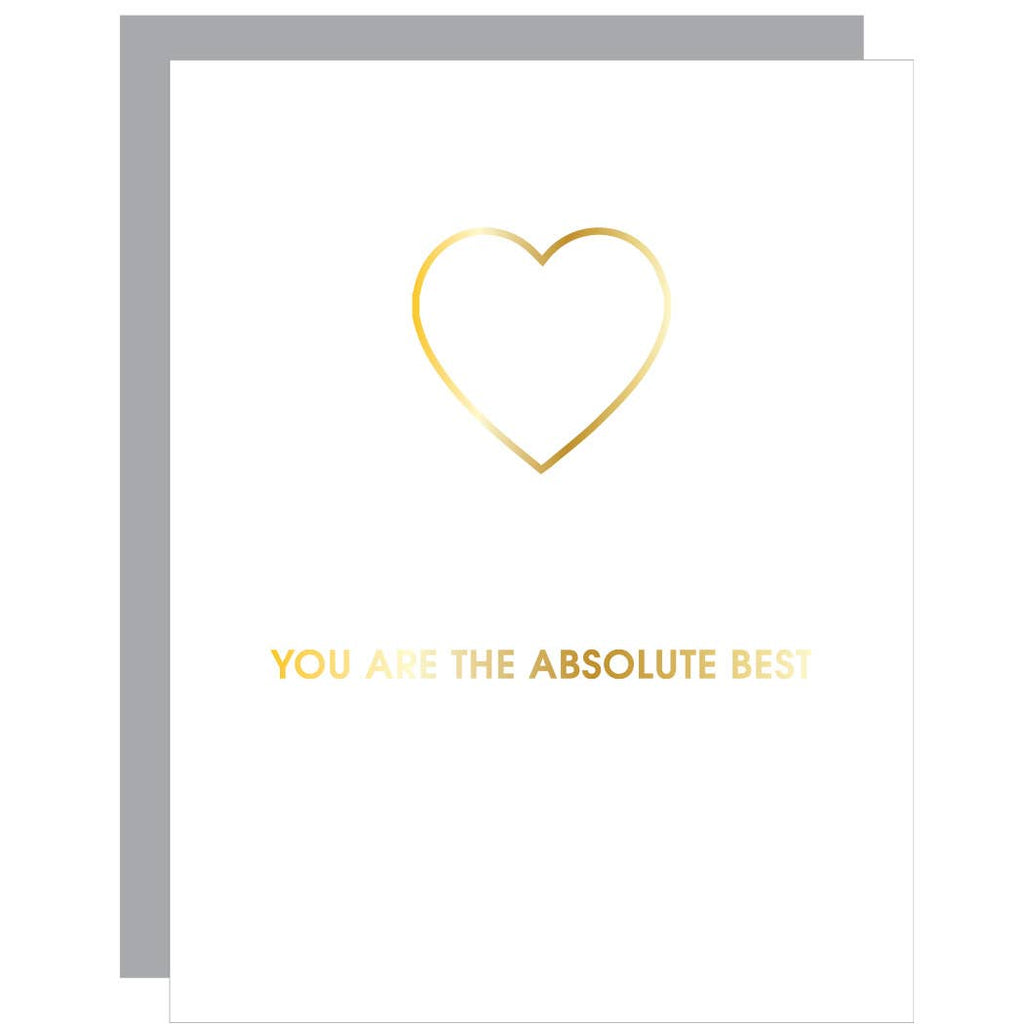 You Are The Absolute Best - Paper Clip Greeting Card