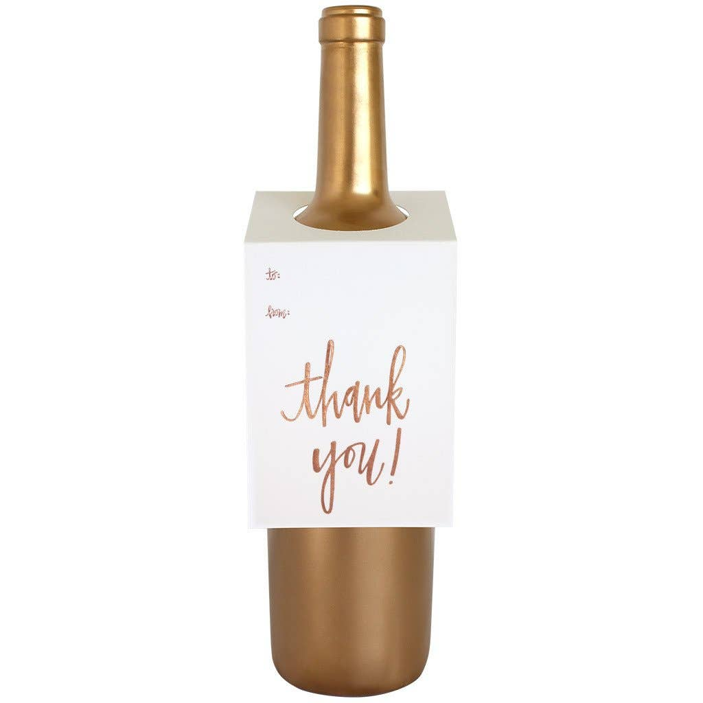 Thank You Script Wine & Spirit Tag  - Singles