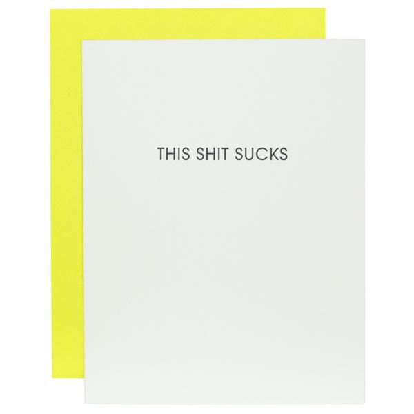 This Sh*t Sucks - Greeting Card