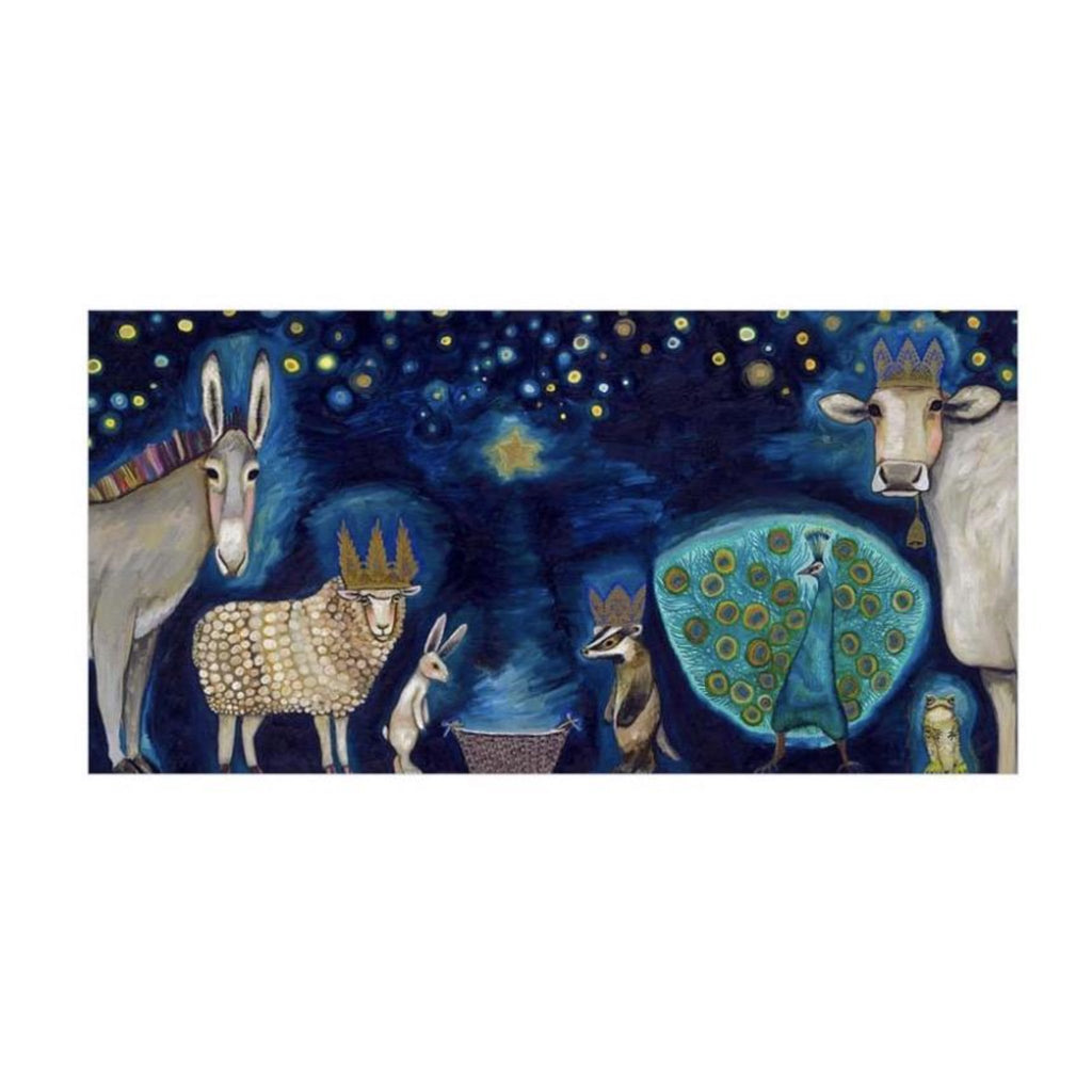 Animal Nativity Canvas Wall Art 72 x 36