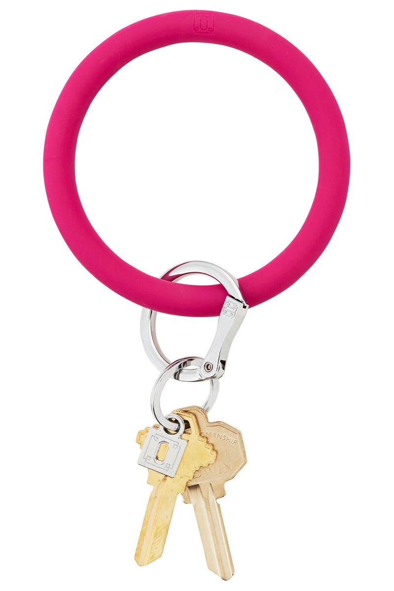 Silicone Big O Key Ring: I Scream Pink