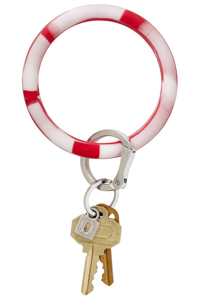 Silicone Big O Key Ring: Cherry On Top Marble