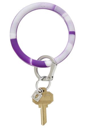 Silicone Big O Key Ring: Deep Purple Marble