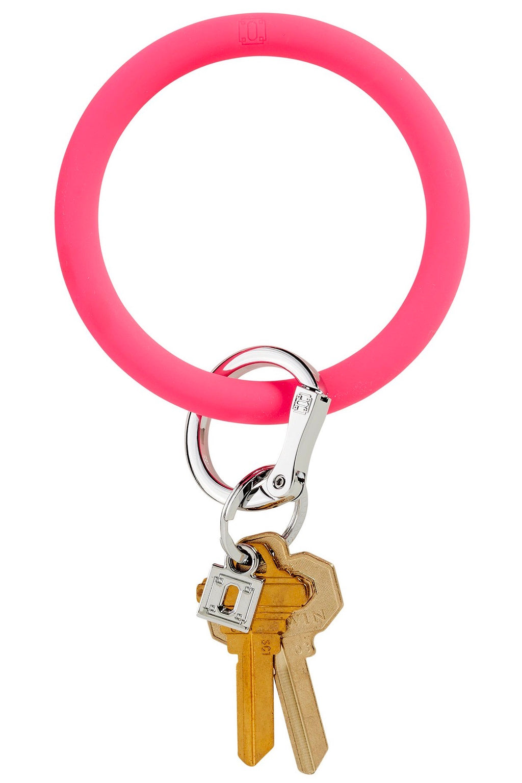 Silicone Big O Key Ring: Tickle Pink