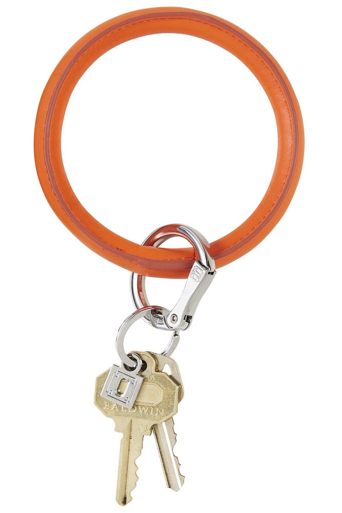 Vegan Big O Key Ring: Orange Crush