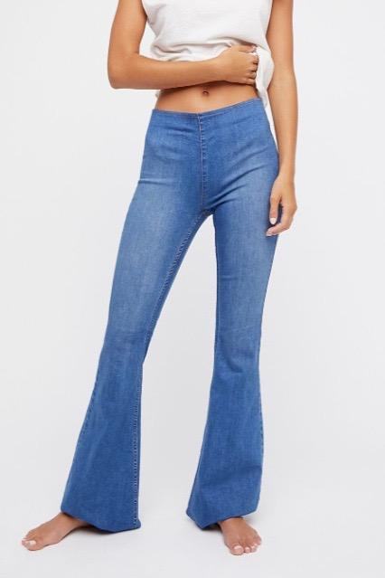 New FP Penny Pull On Flare Jean in Echo Blue